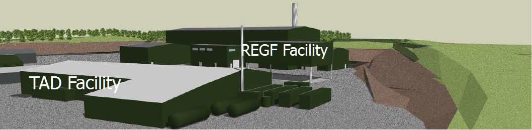 Pebble Hall TAD & REGF facility sketch up diagram